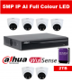 6 x 5MP Dahua Full Colour IP Camera with 8 Channel NVR and 2TB HDD