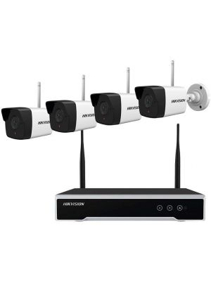 Hikvision Wifi 4MP Kit 4ch Wifi NVR 1TB HD Included 4 Bullet Cameras