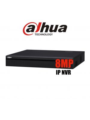 Dahua 8ch NVR Record Up to 8MP, 8 Port PoE,HDMI(4K), Smart 2.0, P2P, HDD-3TB INCLUDED (S)