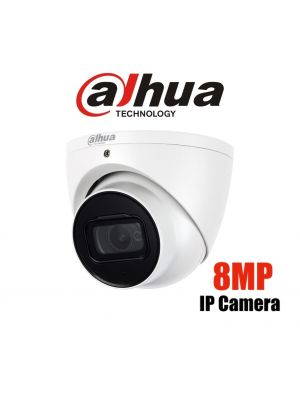 Dahua 8MP (4K) Starlight IP Turret Fixed 3.6mm,ICR,WDR,IR 30m,IP67,POE (S)