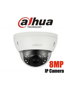 Dahua 8MP(4K) IP Starlight Dome Fixed 2.8mm lens, SD Card, WDR,IR 30m,IP67,IK10  (S)