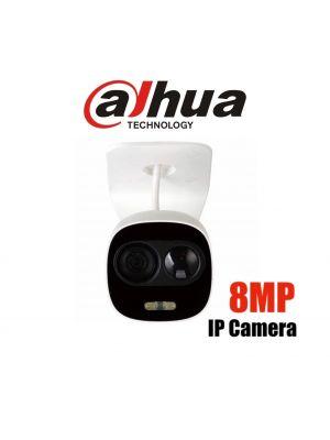 Dahua 8MP (4K) Starlight IP Mini Bullet Fixed 2.8mm,ICR,WDR,IR 20m+White Light,IP66, POE (S)