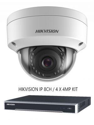 4MP 8CH NVR 8TB HDD 4 X 4MP IR DOME DIY CCTV SECURITY CAMERA SYSTEM