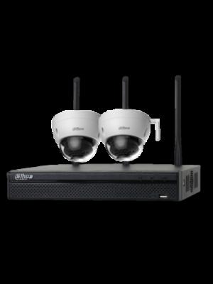 2MP 2 X 3MP IR DOMES WI-FI 4CH NVR  DIY CCTV SECURITY CAMERA SYSTEM