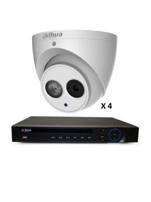 4MP 4 EYEBALL INDOOR OUTDOOR  DIY CCTV SECURITY CAMERA SYSTEM