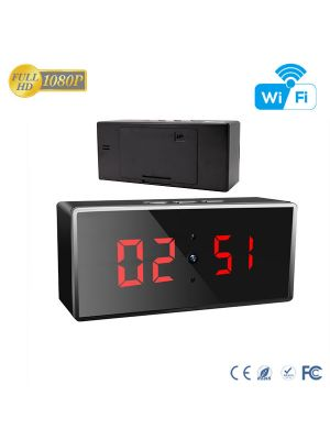 HD 1080P IR Desk Clock WiFi Hidden Camera