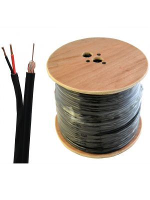 100m Roll RG59 Coax Cable with Power