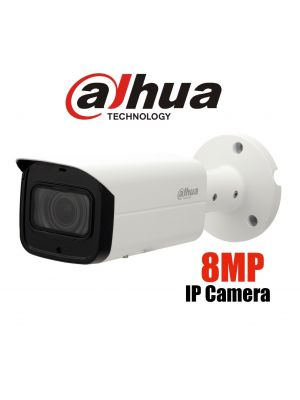 Dahua 8MP (4K) Starlight IP Motorised Bullet,ICR,WDR,IR 60m,IP67,POE (S)