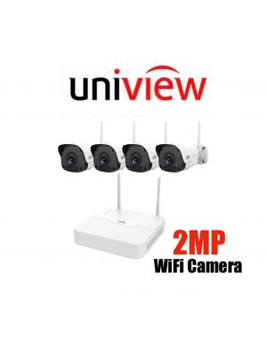 Uniview Wifi  2MP Kit  4ch Wifi NVR 1TB HD Incuded 4  Mini Bullet Cameras