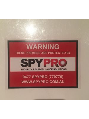 10 x 15 CCTV Warning Sticker