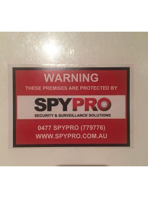 10 x 15 CCTV Warning Sticker